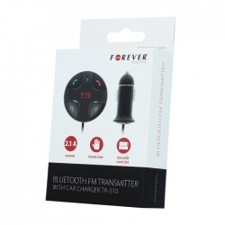 Transmiter FM bluetooth z ładowarką i zestawem głośnomówiącym