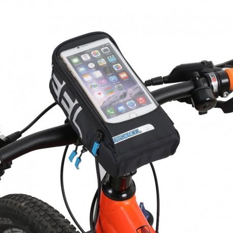 Uchwyt rowerowy na telefon z torbą ROSWHEEL
