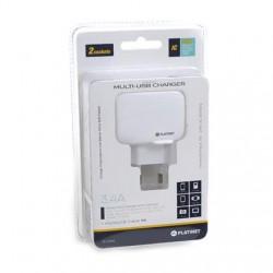 Ładowarka sieciowa PLATINET 2 x USB 3,4A