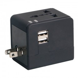 Adapter gniazdka Omega UK USA EUR 2 x USB