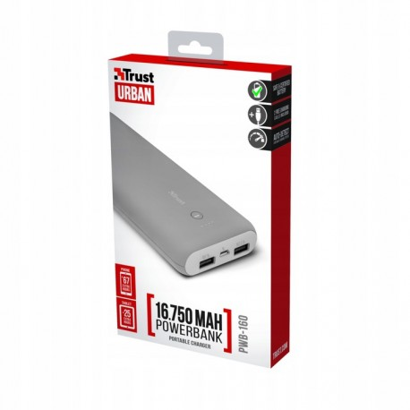 Powerbank Trust 16750 mAh