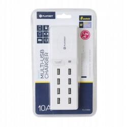 Ładowarka sieciowa PLATINET 8x USB 10A niepalna