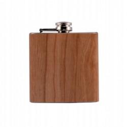 Piersiówka Coney 180ml drewno