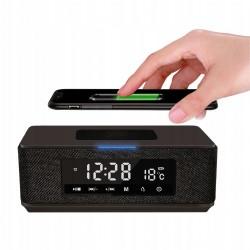 Głośnik bezprzewodowy z radiobudzikiem i ładowarką