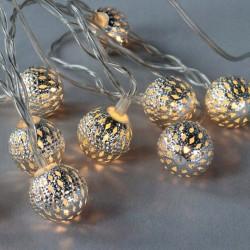 Cotton Balls Kule LED Kulki świecące srebrne 10szt