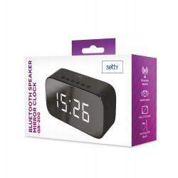 Głośnik bluetooth bezprzewodowy + budzik + zegar