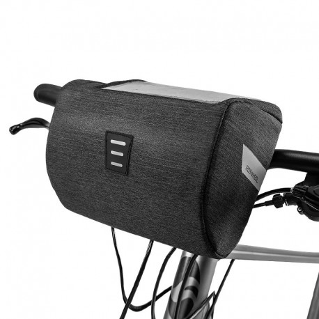 Torba rowerowa na kierownicę z miejscem na telefon / mapę