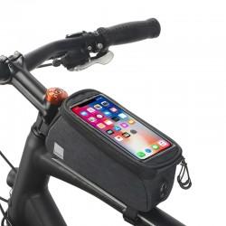 Torba rowerowa na ramę z miejscem na telefon