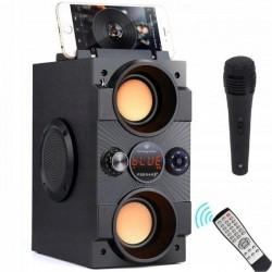 Głośnik bezprzewodowy Boombox + mikrofon karaoke