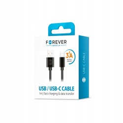 Kabel USB-C 3A 1m FOREVER